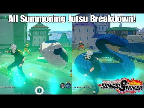 Naruto To Boruto Shinobi Striker All Summoning Jutsu