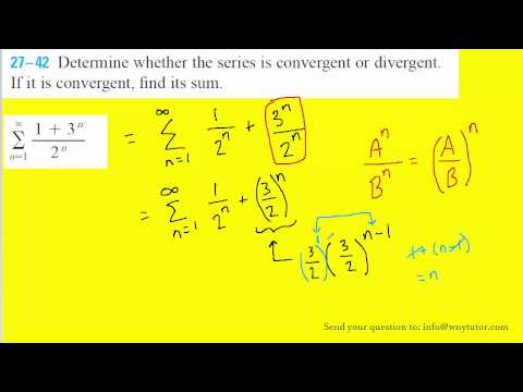 Determine whether the series is convergent or divergent.  If it is convergent, find its sum.