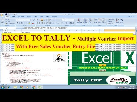 Excel to Tally - Multiple Voucher Entry