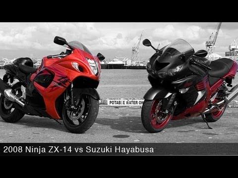 2008 Kawasaki Ninja ZX-14 vs Suzuki Hayabusa - MotoUSA