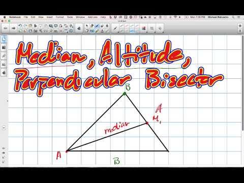 Median, Altitude and Perpendicular Bisectors Grade 10 Academic Lesson 3 1 3 9 15