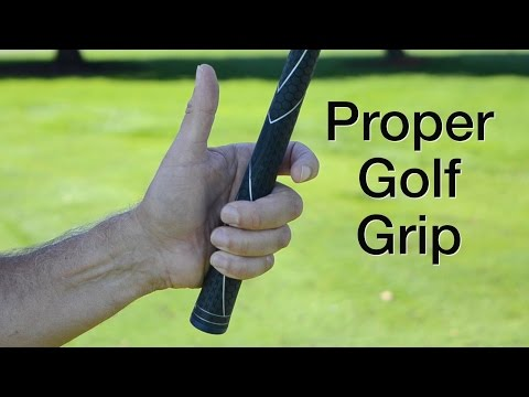 Proper Golf Grip & Holding the Golf Club