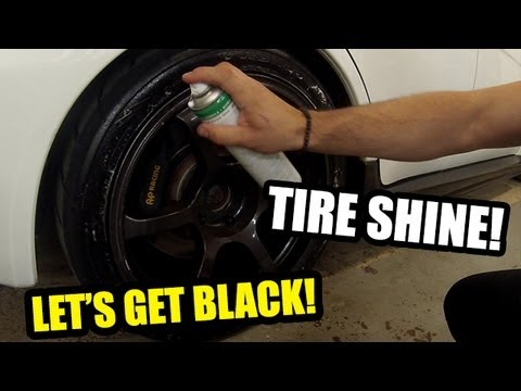 How To Get Your Old Tires Look Like New! With TIRE SHINE!