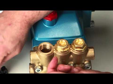 Servicing Valves - Cat Pumps Model 5CP3120, 5CP5120