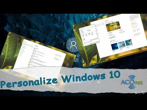 Personalize Windows 10