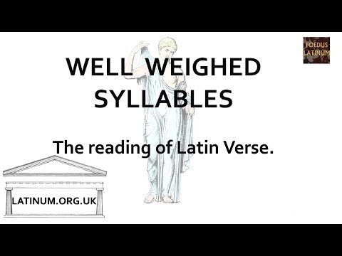 Reading Latin Verse Aloud - looking at Attridge's 'Well Weighed Syllables'