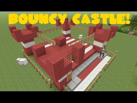 BOUNCY HOUSE/CASTLE//Minecraft Tutorial