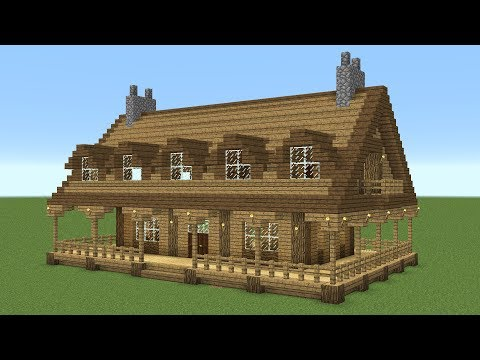 Minecraft - How to build a large wooden house