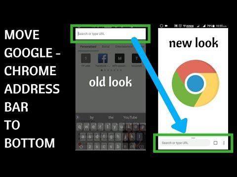 Move google chrome address bar to bottom