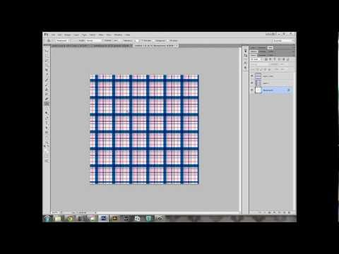 Using Patterns in Photoshop & Making Plaid Paper