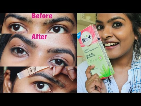 How to wax your eyebrows at home | Use VEET WAX STRIPS to wax eyebrows | Tips & Trick
