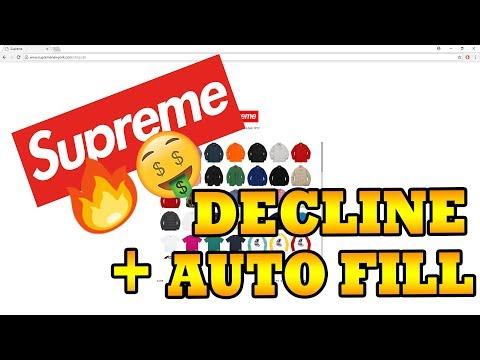 Supreme Card Decline + Autofill FIX!