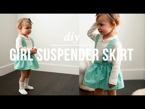 DIY easy Girl suspender skirt
