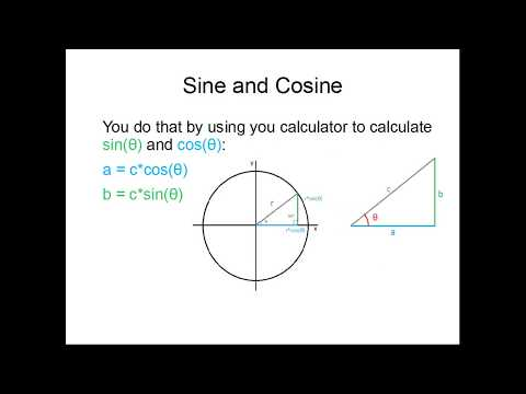What is sine and cosine, and can you calculate them without calculator?