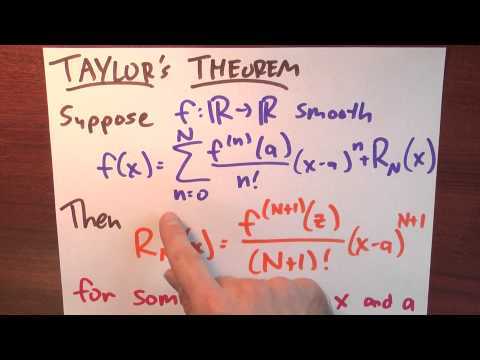 How is Taylor's theorem like the mean value theorem? - Week 6 - Lecture 7 - Sequences and Series