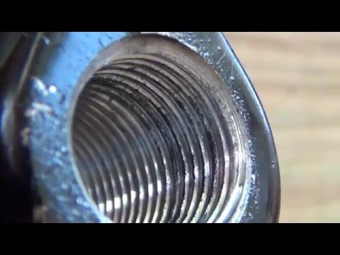 How to fix a stripped bolt hole