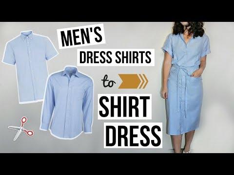 Men's Dress Shirts to Shirt Dress EASY DIY REFASHION | Episode 10