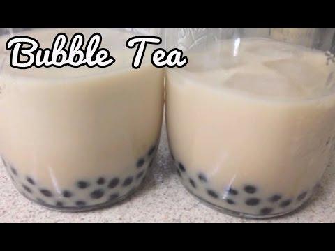 Easy Green Tea & Jasmine Milk Tea with Honey Boba (Bubble Milk Tea, Boba Milk Tea)