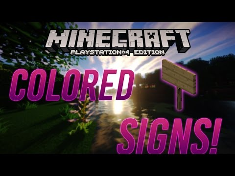 Minecraft PS4/Xbox One - How to Add Color to a Sign!