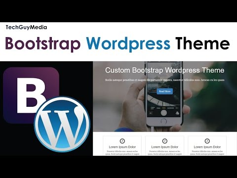 Wordpress Theme With Bootstrap [2] - Header & Footer