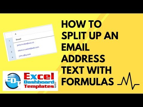 How to Split Up an Email Address Text with Excel Formulas