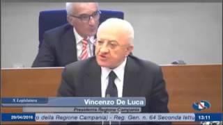 #Campania, intervento governatore De Luca su camorra
