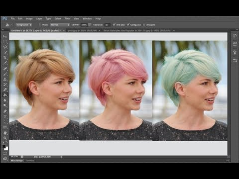 How to Change Hair Color in Photoshop | THE EASIEST WAY!!