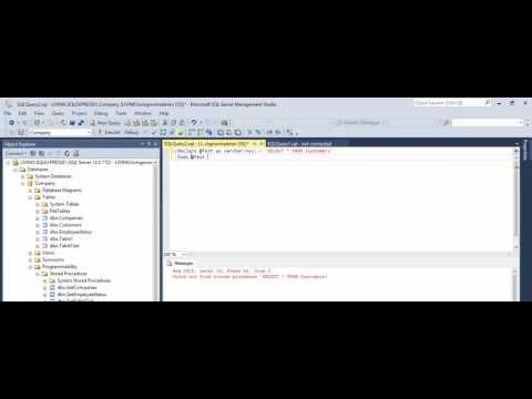 MSSQL - Fix Error  - Could not find stored procedure