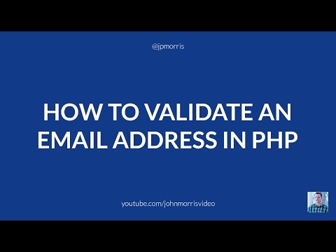 How to Validate an Email Address (By Domain) Using PHP