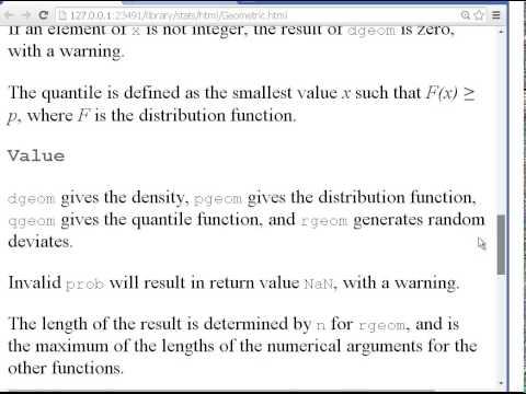 R Programming : The Geometric Probability Distributions