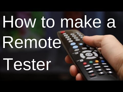 Tv remote tester | How to make a Tv/Car remote tester