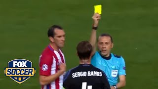There were five yellow cards between Real Madrid and Atletico Madrid