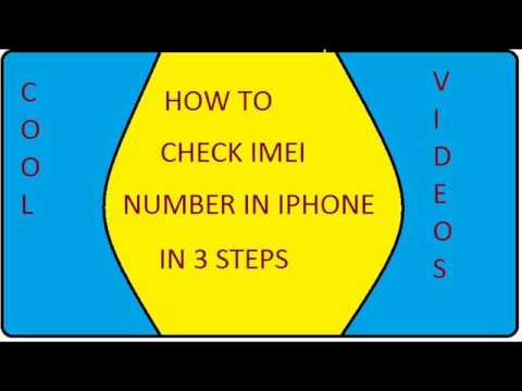 How to check IMEI and Serial Number in iPhone