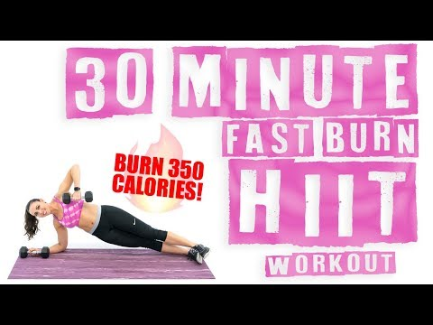 30 Minute Fast Burn HIIT Workout 🔥Burn 350 Calories! 🔥