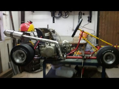 Go-Kart with a 125cc Dirt Bike engine