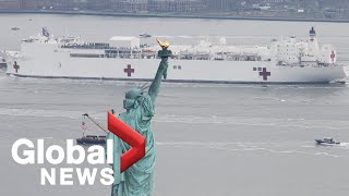 Coronavirus outbreak: Hospital ship USNS Comfort arrives in New York City | LIVE