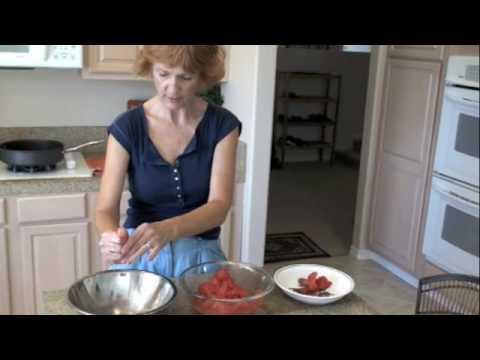 Making pizza sauce from fresh San Marzano tomatoes