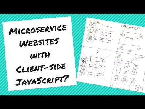Microservice Websites with Client-side JavaScript?