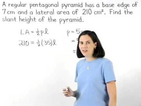 Surface Area of a Pyramid | MathHelp.com