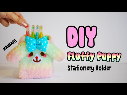 DIY Fluffy Puppy Stationery Holder/Organizer - Fun and Adorable Penholder to Brighten Up Your Desk!