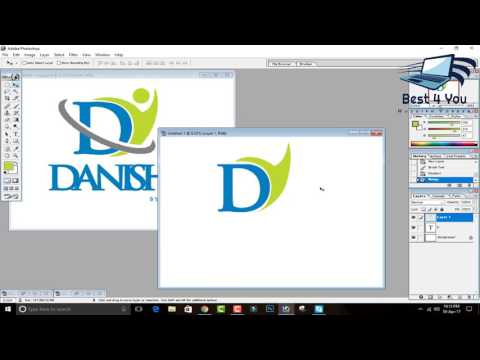How to a D Logo In adobe Photoshop 7.0 In Hindi / Urdu