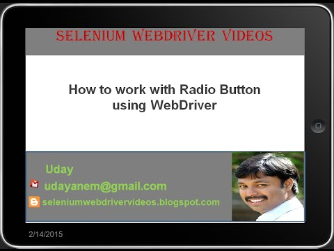 [Selenium WebDriver Videos]: How to perform different operations on Radio Buttons using webdriver