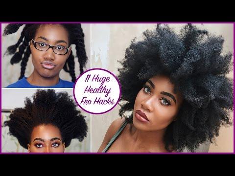 11 HUGE HEALTHY AFRO Hacks (Type 4a/4b/4c) | Natural Hair