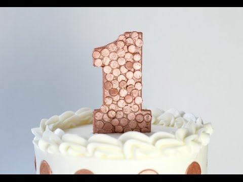 Rose Gold Sequin Number Cake Topper Tutorial