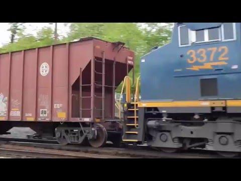 Csx Train Woodbourne, PA