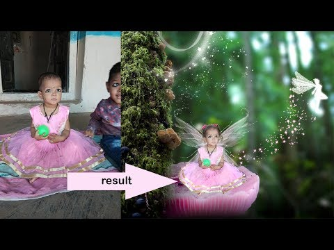 How to Make fairy Wings photo with baby kids, hindi photoshop tutorials.