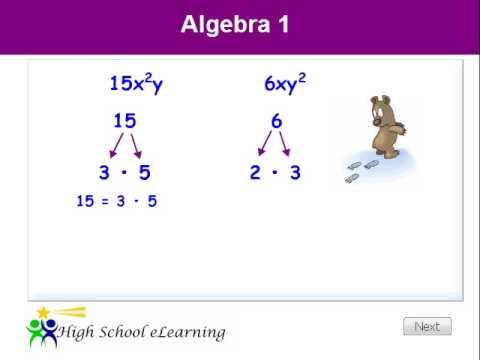 Algebra - Greatest Common Factor