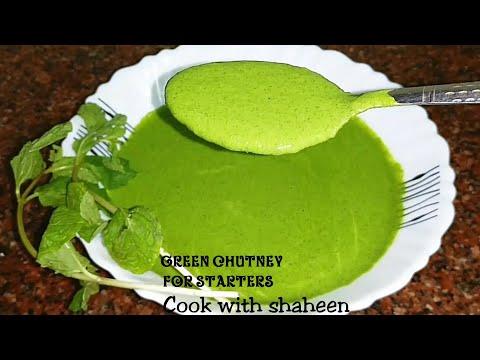 Green Chutney For Kabab and Starters   Yoghurt And Mint Chutney   Dahi Pudine Ki Hari Chutney