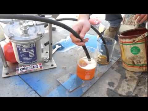 Micfil filter demonstration