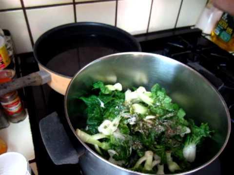 Cooking - stir fry cabbage